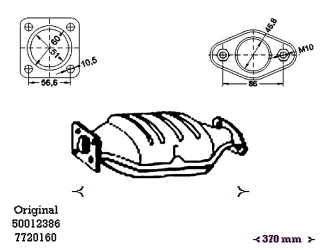 ΚΑΤΑΛΥΤΗΣ INNOCENTI ELBA 1.4 1372 cc 49 Kw / 67 cv 10/93-