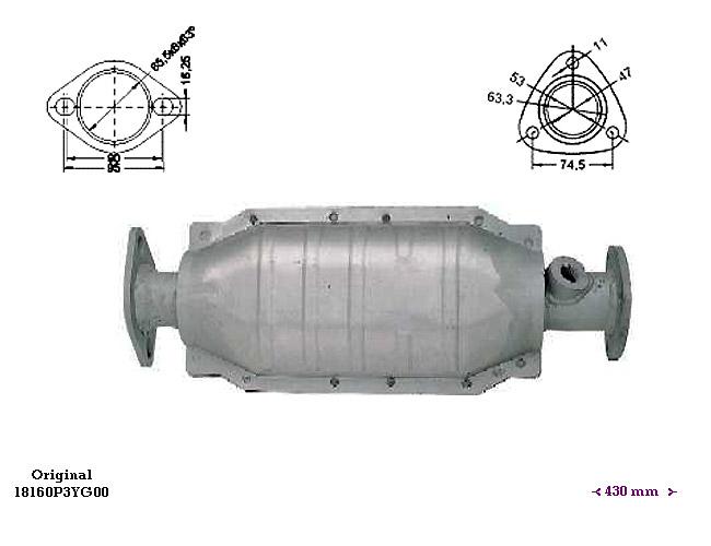 ΚΑΤΑΛΥΤΗΣ HONDA CIVIC 1.4i 16V 1396 cc 55 Kw / 75 cv D14A3 96-