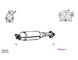 CATALYTIC CONVERTER ALFA 146 1.3ie AR3350 11/95-12/96