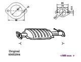 ΚΑΤΑΛΥΤΗΣ ALFA 156 1.6i 16V Twin Spark AR67101/AR32102 9/97-5/00